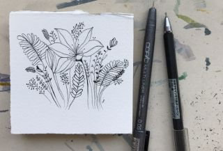 식물 펜 일러스트 그리기 Drawing _ botanical pen illustration