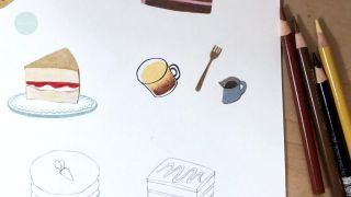 디저트 그리기3 _ dessert illustration _ coffee, mini _ colorpen...