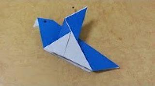 쉬운 종이접기 (새) Origami  쉬운 색종이접기
