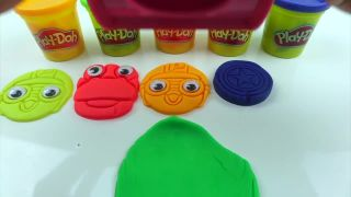 Learn Colors Numbers Play Doh dinosaur Crong Pororo Number Molds Clay Cooking Toy Rainbow