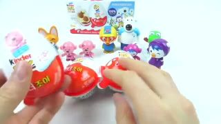 Pororo Kinder Joy Surprise eggs Toy Chocolate toy Learn Colors Ice Cream Cups surprise toy eggs
