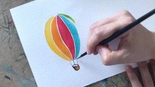 열기구 수채화 일러스트 _ hot _air balloon watercolor illust