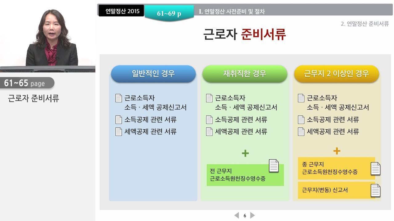 제 2강 연말정산 사전준비 및 절차(1)