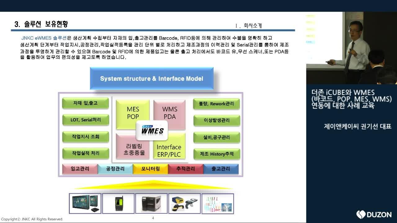 더존 iCUBE와 WMES 연동에 대한 교육1